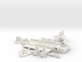 steering chassis for 1/43rd slotcars in White Natural Versatile Plastic