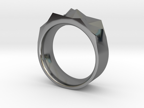 Triangulated Ring - 15mm in Fine Detail Polished Silver