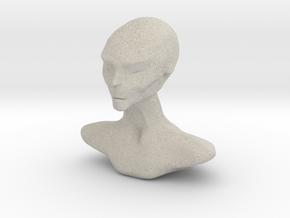 Homo Capensis Alien Bust in Natural Sandstone