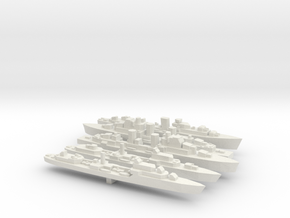 1/2400 British Late War Destroyers in White Natural Versatile Plastic