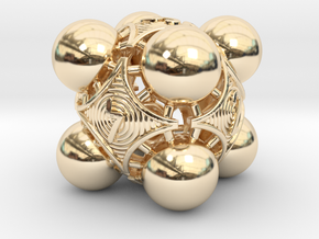 Nucleus D6 in 14k Gold Plated Brass