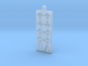 Konami Code Pendant - Straight in Smooth Fine Detail Plastic