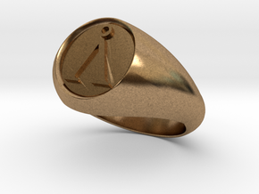 Stargate Earth symbol signet ring s 11 (20.93 mm) in Natural Brass