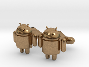 Android Cufflinks in Natural Brass