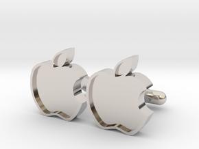 Apple Cufflink in Platinum