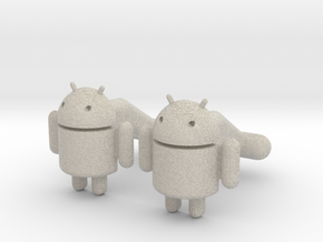 Android Cufflinks in Sandstone