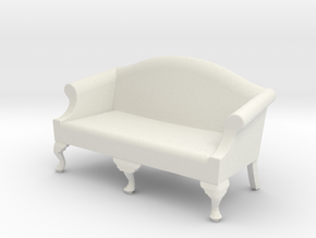 1:24 Queen Anne Sofa, Medium in White Strong & Flexible