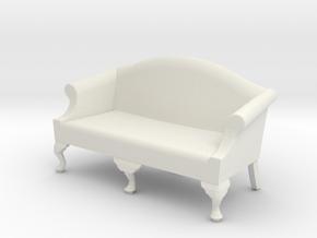 1:24 Queen Anne Sofa, Medium in White Natural Versatile Plastic