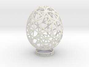 EASTER PEACE EGG in White Natural Versatile Plastic