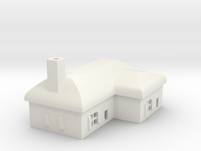 1/700 Villiage House 2 in White Strong & Flexible