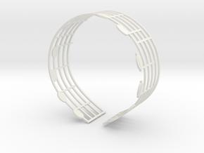 Music Bracelet - Ode to Joy in White Natural Versatile Plastic