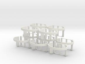 Nanolet   small x10 in White Natural Versatile Plastic