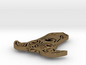 Cute pet pendant. in Natural Bronze