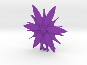 Passion Flower Pendant in Purple Processed Versatile Plastic