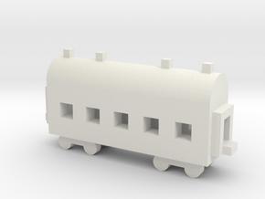 1/700 Passenger Carriage in White Natural Versatile Plastic