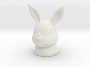 ennui animals - Rabbit in White Natural Versatile Plastic