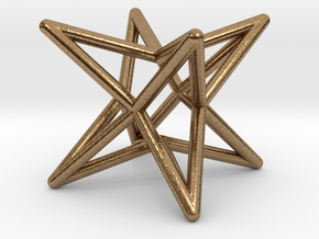 Octahedron Star Earring in Raw Brass