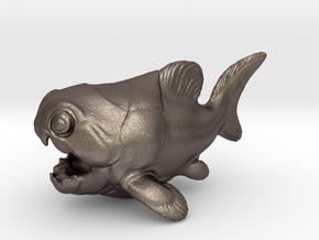 Dunkleosteus Chubbie 1 in Polished Bronzed Silver Steel