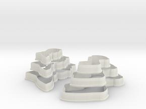 Jane Austen Cookie Cutter trial set in White Natural Versatile Plastic