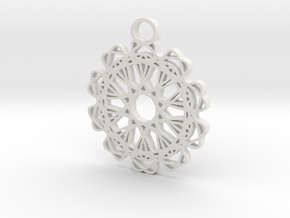 5ornament in White Natural Versatile Plastic