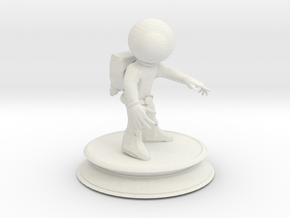 Space Astronaut in White Natural Versatile Plastic
