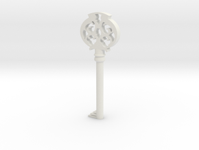 Pendant- Mombi's Ruby Key in White Natural Versatile Plastic