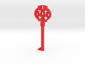 Pendant- Mombi's Ruby Key in Red Strong & Flexible Polished