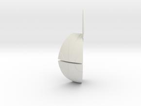 Danger Ball Segment (need 6) in White Natural Versatile Plastic