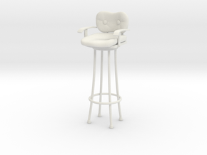 Pint Size Chat - Harry's Bar Stool in White Strong & Flexible