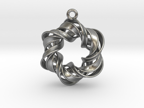 The Six Pointed Star in Natural Silver