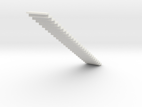 1200 Wide Stair 4mm Scale in White Natural Versatile Plastic