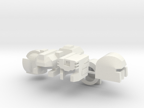 Extinct Wave 2 Upgrade Robohelmets in White Natural Versatile Plastic