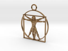 vitruvian man 5cm in Natural Brass