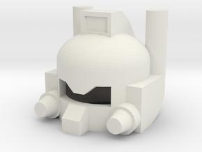 Robothelmet: Chopper in White Natural Versatile Plastic
