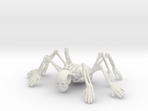 Skeleton spiderMan in White Strong & Flexible