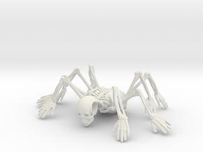 Skeleton spiderMan in White Natural Versatile Plastic