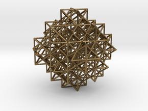 Escher's solids filling space in Natural Bronze