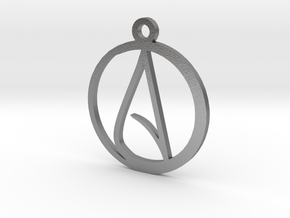 Atheist Pendant in Natural Silver