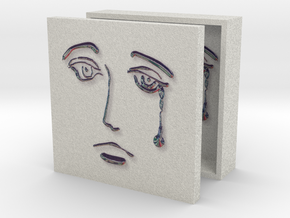 Crying Muse Box 3in in Full Color Sandstone