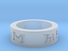 I love you in elven ring in Smooth Fine Detail Plastic