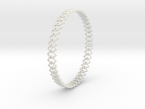 Square Bracelet in White Natural Versatile Plastic