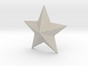 Star Solid in Natural Sandstone