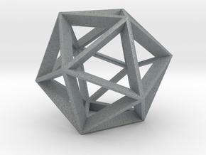 Polyhedral Sculpture #20 A in Polished Metallic Plastic