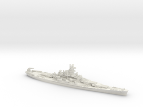 1/1800 USN BB57 South Dakota [1942] in White Natural Versatile Plastic