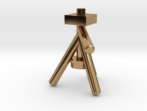 Camera Tripod for Lego Cameras in Polished Brass