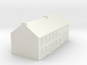 1/350 Barn House 1 in White Strong & Flexible