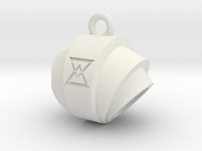 Pendant- Runestone Large- Holder in White Natural Versatile Plastic