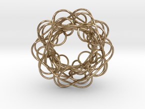Complex Knot in Polished Gold Steel