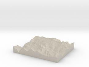 Model of Cascade Pass in Sandstone