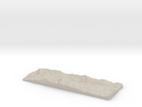 Model of Home Valley in Natural Sandstone